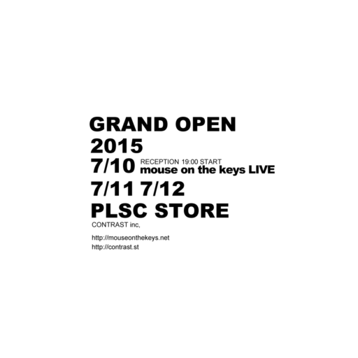GRAND OPEN / mouse on the keys LIVE